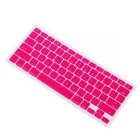 IVEA Pink Keyboard Silicone Cover Skin for New Aluminum Unibody Macbook Pro 13, 15, 17 inches - FIT ALL: Computers & Accessories