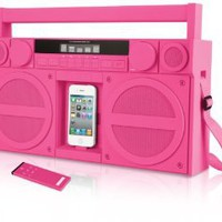 Amazon.com: iHome iP4PZ FM 30-Pin iPod/iPhone Speaker Dock Boombox (Pink): MP3 Players & Accessories