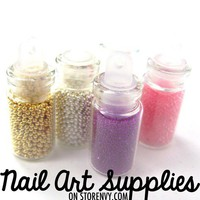 nailartsupplies | Metallic Caviar Beads Glitter Mixed Glitter Nail Art Manicure Kit 5 piece Set | Online Store Powered by Storenvy