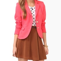 Pleated Pocket Blazer