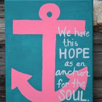 Canvas Painting - Hebrews 6:19 - Anchor