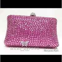Light Amethyst Crystal Clutch by MDNY