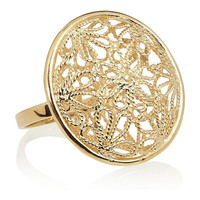 Isharya 18-karat gold-plated filigree ring – 50% at THE OUTNET.COM