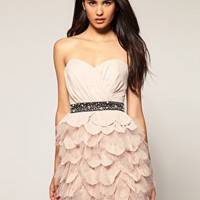 Lipsy | Lipsy VIP Ruffle Bustier Dress at ASOS