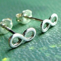 Infinity Earrings Post Earrings in Sterling Silver Stud Earrings Studs