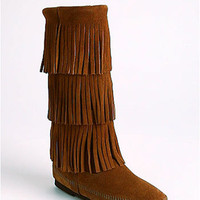 Minnetonka 3-Layer Fringe Boot | Nordstrom