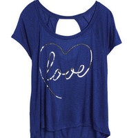 Love Script Sequin Tee