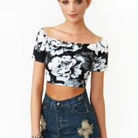 Dark Rose Crop Top