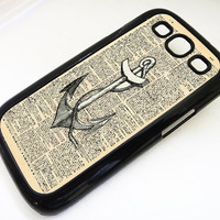 Samsung Galaxy S3 case VINTAGE ANCHOR Dictionary