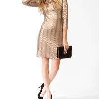 Sequined Scalloped Dress