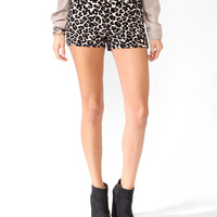 Jacquard Animal Pattern Shorts | FOREVER21 - 2021839627