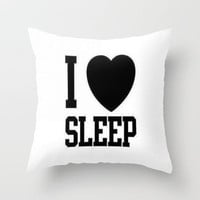 SLEEP Throw Pillow by Sjaefashion | Society6