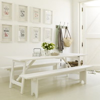Pale and Interesting - White Trestle Table