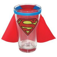 Superman Caped Logo Pint Glass