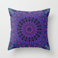 Purple Harmony Throw Pillow by Lyle Hatch | Society6