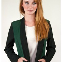 Color Block Draped Blazer | Sugar and Sequins