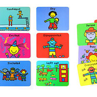 The Spoon Sisters Feelings Flash Cards - Kids Learn About Emotions