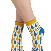 Shop &#x27;Til You Droplet Socks | Mod Retro Vintage Socks | ModCloth.com