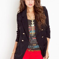 Madison Blazer - Black - NASTY GAL