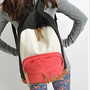 New Cool Woman's Canvas Backpacks Satchel Book Bags Rucksack Knapsack IN4Colors