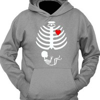 Maternity Baby Skeleton Love Pregnant Halloween Costume T-Shirt Hoodie on eBay!