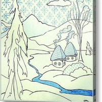 Winterwonderland Drawing Acrylic Print By Alexandra Cook