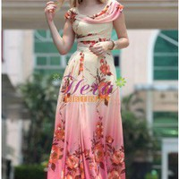 Elegant Column/Sheath Floor Length Cap Straps Printed Jacquard Evening Dress