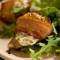 Roasted Baby Pears with Herbed Goat Cheese Recipe : Tyler Florence : Food Network