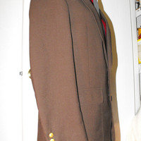 Unisex Well Tailored Preppy Brown Sports by GiltyGirlVintage
