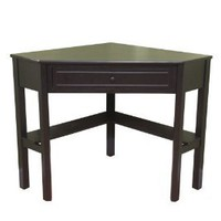 Amazon.com: TMS Corner Desk, Black: Home & Kitchen