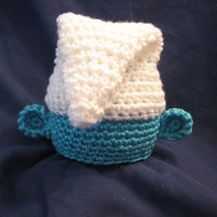 Crochet Blue Cartoon Character Baby Hat Photo by crochet2love1
