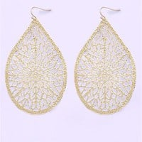 A'GACI Large Teardrop Filigree Earring - JEWELRY