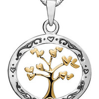 14k Gold and Sterling Silver Pendant, Family Tree - Necklaces - Jewelry & Watches - Macy's