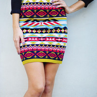 Day And Night Sweater Skirt: Multi | Hope's