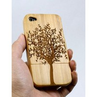 Amazon.com: Kaufease Iphone4 4S Bamboo Protective Shell/case Wooden Protective Shell: Cell Phones &amp; Accessories