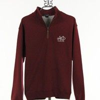Quarter Zip Alpha Phi Sweatshirt in Maroon