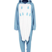 Flirt Blue Fleece Owl Onesuit