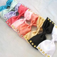 Satin Studded Bows (Buy 2 Get 1 Free)