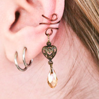 Steampunk Romance Ear Cuff