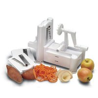 World Cuisine 48297-99 Tri-Blade Plastic Spiral Vegetable Slicer: Kitchen & Dining