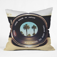 DENY Designs Home Accessories | Bianca Green Focus On Palms Throw Pillow