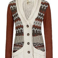 BKE Jacquard Cable Cardigan Sweater - Women's Sweaters | Buckle