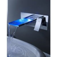 LightInTheBox Sprinkle® - Color Changing LED Waterfall Bathroom Sink Faucet (Wall Mount) - Amazon.com