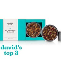 David's Top 3 - Gift Tea Box With Our 3 Top Selling Teas: Coco Chai Rooibos, Read My Lips And Forever Nuts | DavidsTea