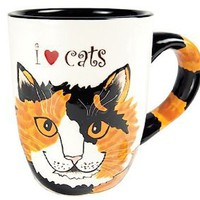 Amazon.com: Pavilion Rescue Me Now Calico Cat Mug, Sunshine, 12-Ounce, 4-1/4-Inch: Kitchen &amp; Dining