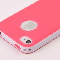 Pandamimi Dexule Rose Red White Fashion Sweety Girls TPU , PC 2-Piece Style Hard Case Cover for iPho