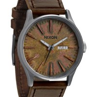 NIXON Men's NXA1051115 Brown Leather Strap Watch