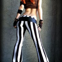 Black and white steampants