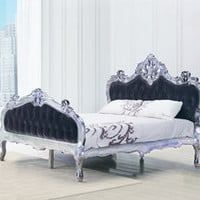 Andromeda Velvet Luxury Bed - King Size Bed