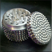 Gunmetal Spike Herb Grinder